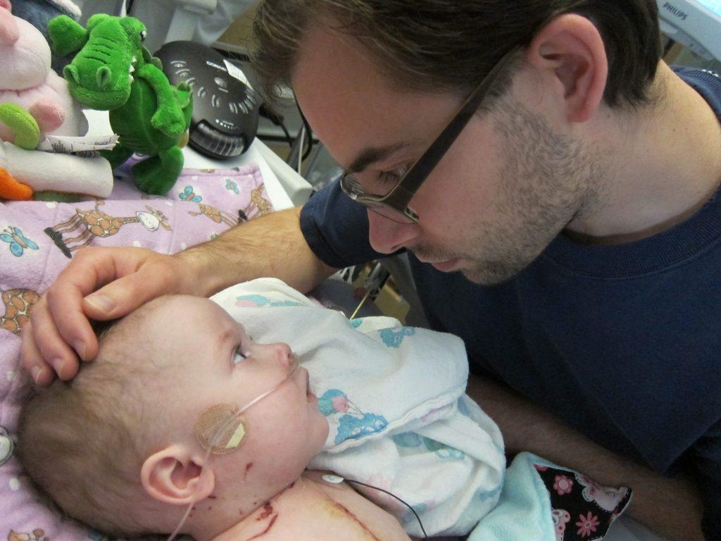 Baby Elara and her dad Dad