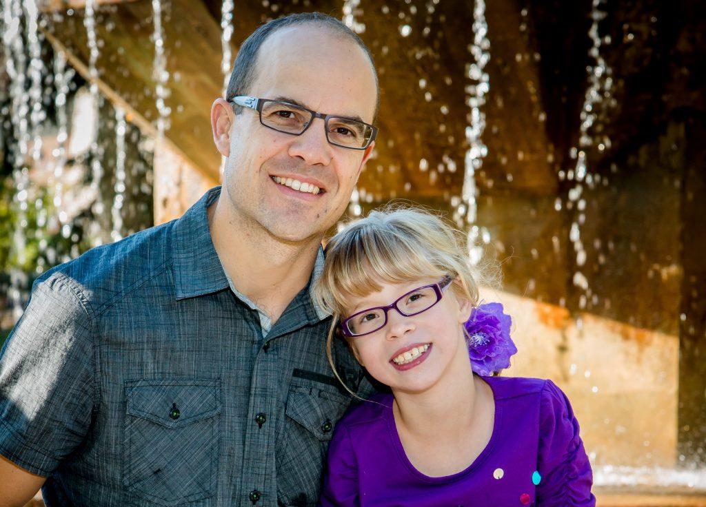 Calla Gross and her dad Derek Gross