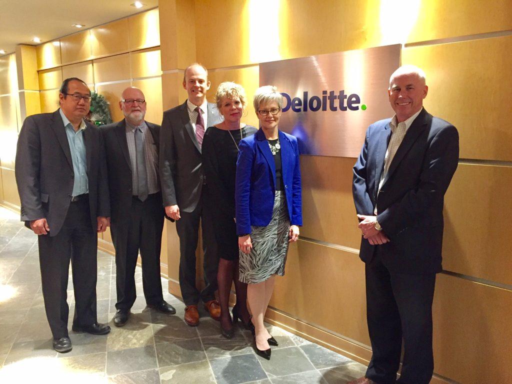 Staff at Deloitte Saskatoon office