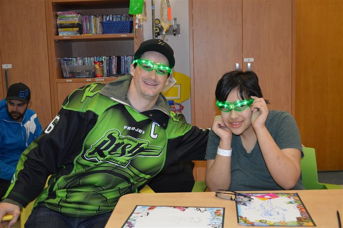 Saskatchewan Rush Players Make Return Visit To Pediatrics