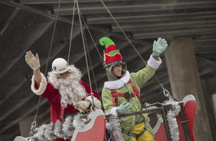 Santa Claus visits Jim Pattison Children's Hospital construction site