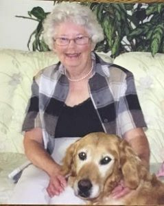 Bernice with her dog Mucky