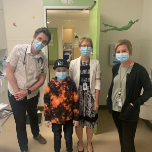 Nate in Jim Pattison Children's Hospital